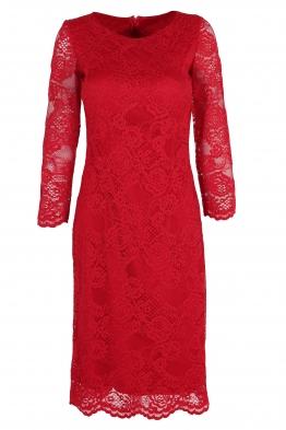 Дантелена рокля НИЯ червена