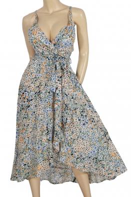 Дълга рокля на цветя 91657 а-1
