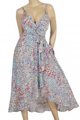 Дълга рокля на цветя 91657 а-2