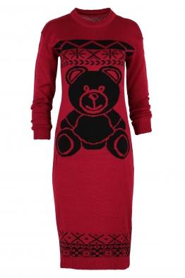 Плетена рокля BEAR бордо