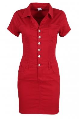 Къса рокля GD6661 червена