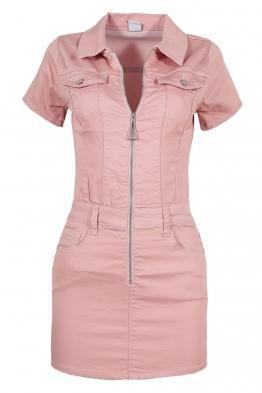 Къса рокля GD6662 розова