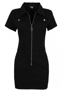 Къса рокля GD6662 черна