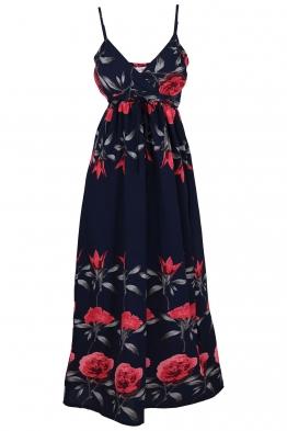 Дълга рокля Q 073 тъмно синя