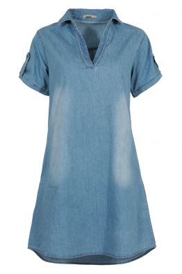 Дънкова рокля-туника 2852