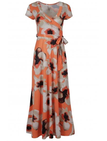 Дълга рокля на цветя ФЛОРЕЙН