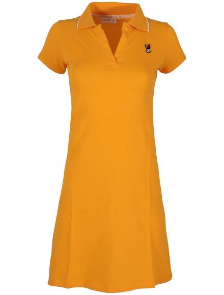 Къса рокля 8009 жълта