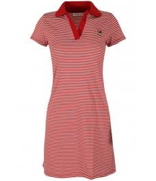 Къса рокля 8013 червено райе