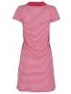 Къса рокля 8013 малина райе