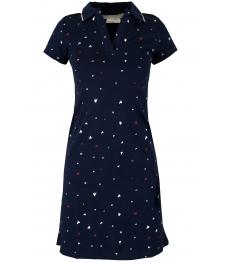 Къса рокля 8019 тъмно синя