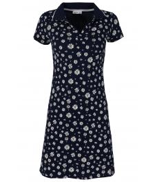 Къса рокля 8021 тъмно синя