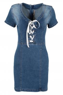 Къса дънкова рокля 1084