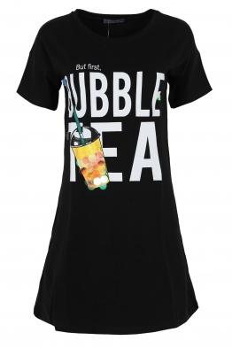 Къса рокля  BUBBLE TEA черна