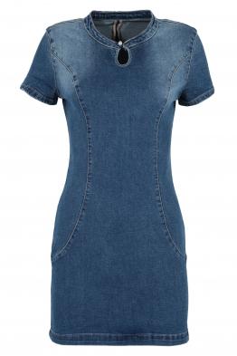 Къса дънкова рокля 1079
