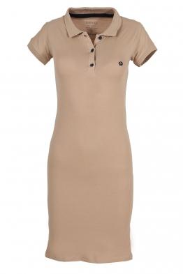 Къса рокля МОР бежова