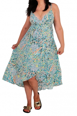 Дълга рокля на цветя 91657 а-5