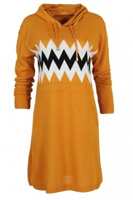 Дамска туника - рокля 519 горчица