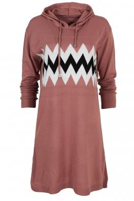 Дамска туника - рокля 519 розова