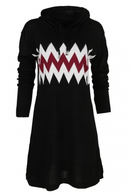 Дамска туника - рокля 519 черна