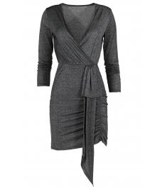 Къса дамска рокля BAMBINA сива