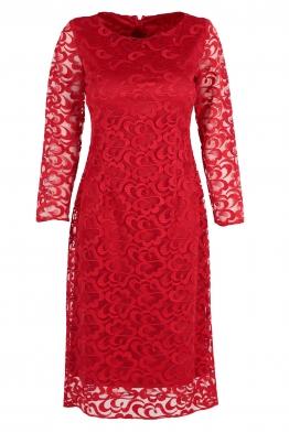 Дантелена рокля Мирела червена