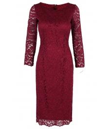 Дантелена рокля Франческа бордо