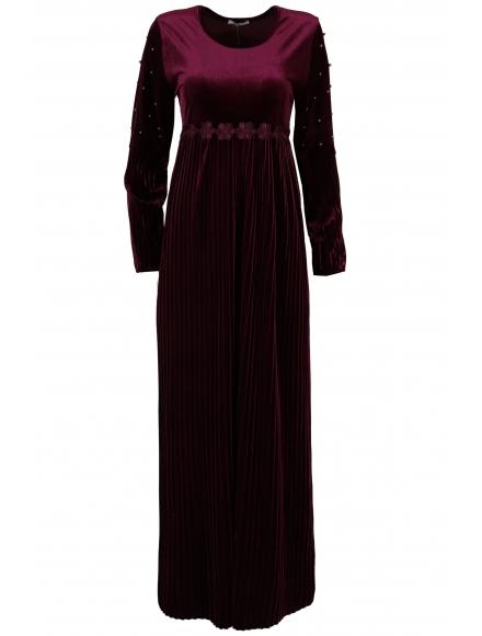 Дълга рокля Естрея патладжан
