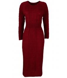 Плетена рокля Опра 308 бордо