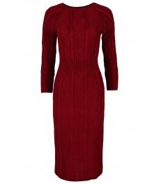 Плетена рокля 309 бордо