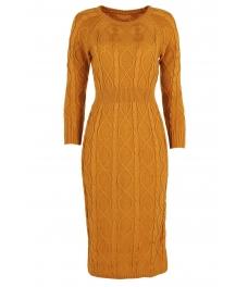 Плетена рокля 309 горчица