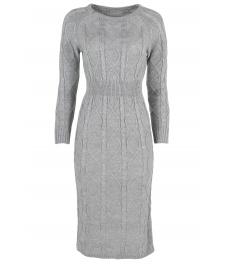 Плетена рокля 309 сива