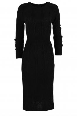 Плетена рокля 309 черна