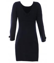 Дамска рокля В 732 тъмно синя