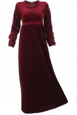 Дълга рокля Естрея бордо