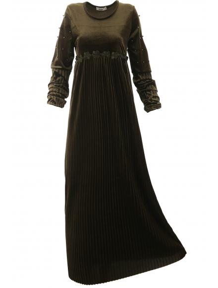 Дълга рокля Естрея зелена
