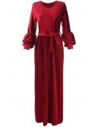 Дълга рокля Клаудия червена