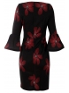 Дамска рокля ЛЕОНЕЛА бордо цветя