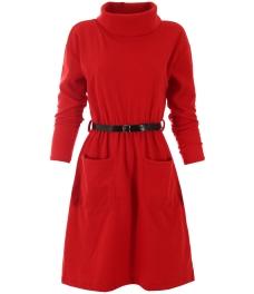 Къса рокля Трейси червена