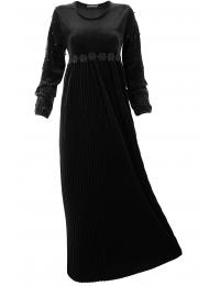 Дълга рокля Естрея черна