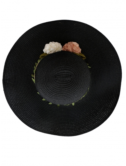 Дамска сламена шапка ВЕДРА  черна