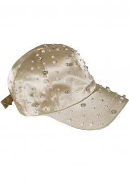 Дамска шапка с козирка ПРИНЦЕС бежова