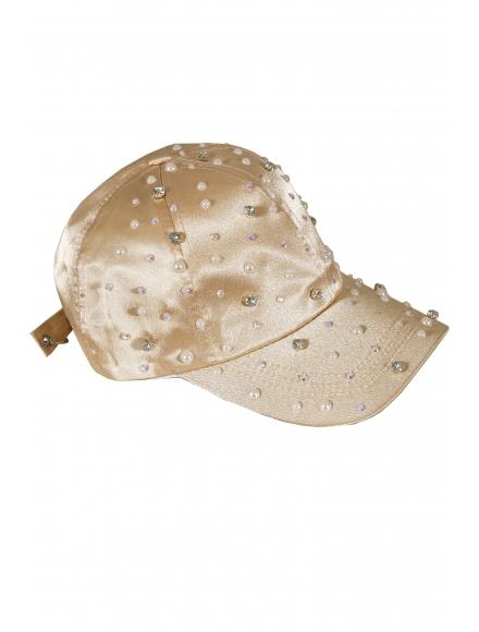 Дамска шапка с козирка ПРИНЦЕС пудра