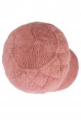Дамски плетен каскет 003 розов