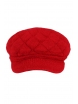 Дамски плетен каскет 003 червен