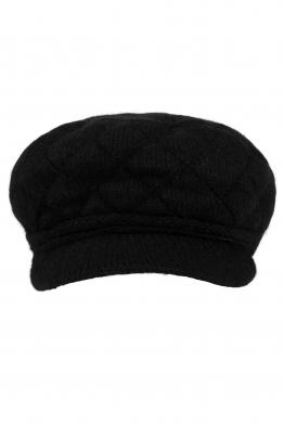 Дамски плетен каскет 003 черен
