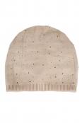 Зимна шапка с камъчета 002 бежова