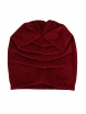 Зимна шапка с камъчета 002 бордо