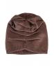 Зимна шапка с камъчета 002 капучино