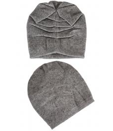 Зимна шапка с камъчета 002 сива