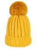 Зимна шапка 001 жълта